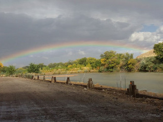 Rainbow over the river